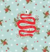 Uitnodiging kerstkaart — Stockvector