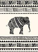 Пригласительная открытка с слон — Cтоковый вектор