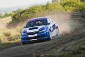 Rally car in action — Foto Stock