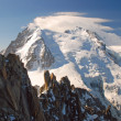 Mont Blanc with climbers, Alps — Stock Photo #56071603