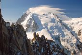 Mont Blanc with climbers, Alps — Stock Photo