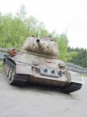 The view of tank T34 — Stock Photo
