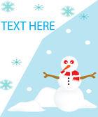 Tarjeta de muñeco de nieve — Foto de Stock