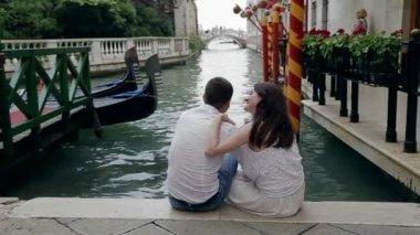 Romantic Walking Venice — Stock Video