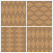 Set of four wood board floor patterns — Stock Vector