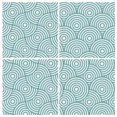 Circle lines overlap diagonal pattern — Stock Vector