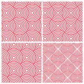 Set of four circle lines overlap — Stock Vector