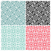Set of four abstract switch color patterns — Cтоковый вектор