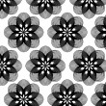 Geometric flower pattern background — Stock Vector #70889215