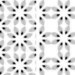 Geometric monochrome flower pattern — Stock Vector #70892905