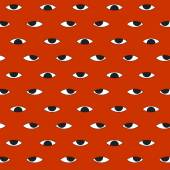 Evil eyes halloween pattern background — Stock Vector