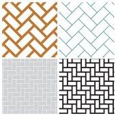 Rectangle weave overlap pattern — Stock Vector