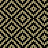 アジア風の色ピクセル正方形のベクトル パターン — ストックベクタ