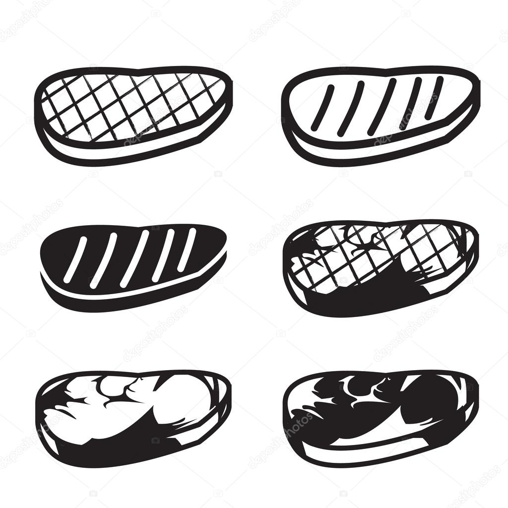 Set of grilled meat vector icon — Stock Vector © jiaking1 ...
