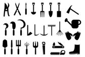 Set of Garden hand tools icon — Stock Vector