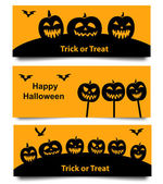 Set of Halloween web banner — Stock Vector
