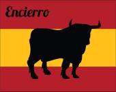 Bull run — Stockvektor