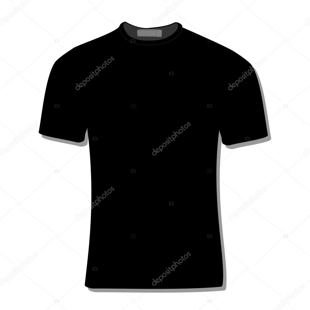 black t shirt vector - photo #11