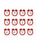 Alarm clock set — Stockvektor
