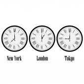 World time clocks — Stock Vector