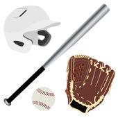 Baseball set — Stock vektor