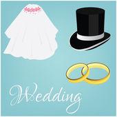 Svatební sada — Stock vektor