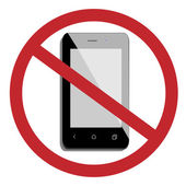 No mobile phone — Stock Vector