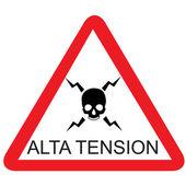 Alta tension — Stock Vector