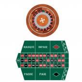 Frech roulette — Stock Vector