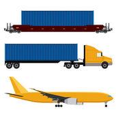 Network logistics — Stock Vector
