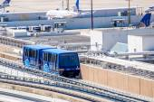 Above ground terminal connecting  tram at IAH — Стоковое фото