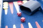 Board games - backgammon in play — ストック写真