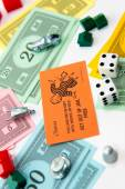 Monopoly board game in play — Stockfoto