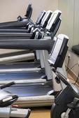 Indoor fitness equipment - treadmill with sunlight — Stock Photo