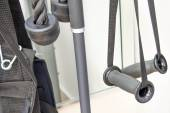Indoor fitness equipment - hand grips close-up — Stock Photo