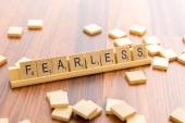 Scrabble letters - FEARLESS — Stock Photo