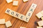 Scrabble letters - EASY MONEY — Photo