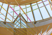 IAH artwork in front of a skylight — Foto Stock