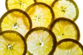 Подсветкой апельсин ломтиками — Стоковое фото