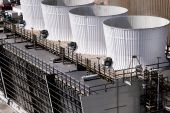 Electrical power substation, transformers, insulators — Stock Photo