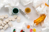 Cold and flu over the counter medications — Foto Stock