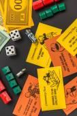 February 8, 2015: Houston, TX, USA.  Monopoly money, playing pie — Stock Photo