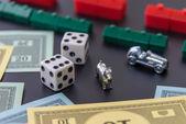 08 de febrero de 2015: Houston, Tx, Usa. Dinero de Monopoly, jugar tarta — Foto de Stock