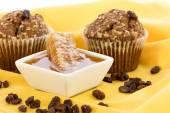 Honey raisin bran muffins — Stock Photo