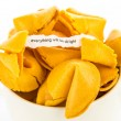 Open fortune cookie - EVERYTHING WILL BE ALRIGHT — Stock Photo #73665963