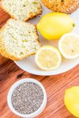 Fresh baked lemon poppyseed muffins — Stock Photo
