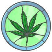 Marjiana Leaf Stained Glass — Fotografia Stock