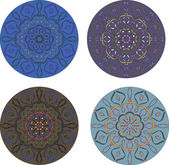 Vector round mandala ornament — Stok Vektör