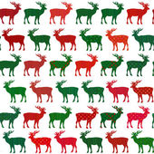 Deer Christmas holiday vector seamless pattern — Stock Vector
