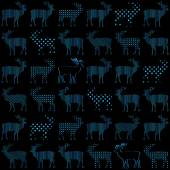 Deer Christmas holiday vector seamless pattern — Stock Vector